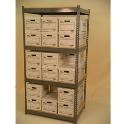 42 x 22-X-30 x 22-X-7'-tall-shelving-unit-4-levels-double-stacked