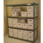 69 x 22-X-30 x 22-X-7'-tall-shelving-unit-4-levels-double-stacked